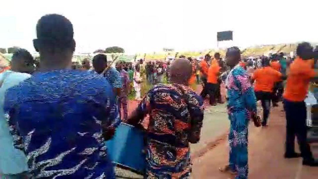 L'animation en ouverture du championnat de Ligue 1 au Bénin. Trinité Singbo