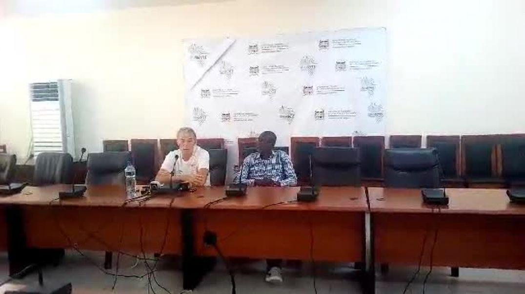 Conférence de presse de Michel Dussuyer avant Bénin Zambie. Trinité Singbo
