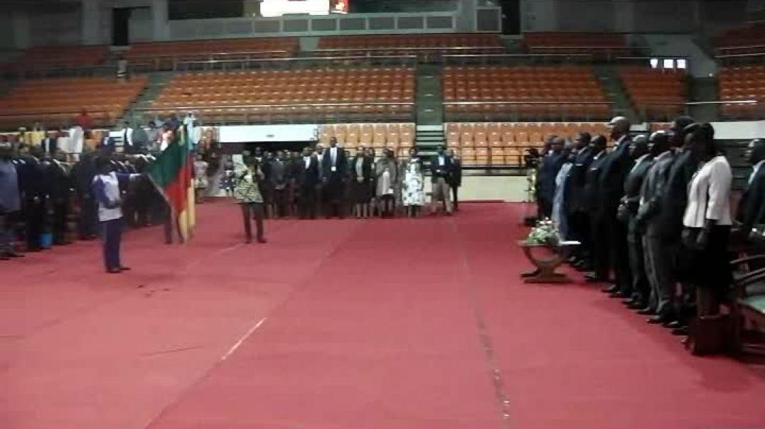 L'hymne National au Palais des sports de Yaoundé  Par Vincent Kamto
