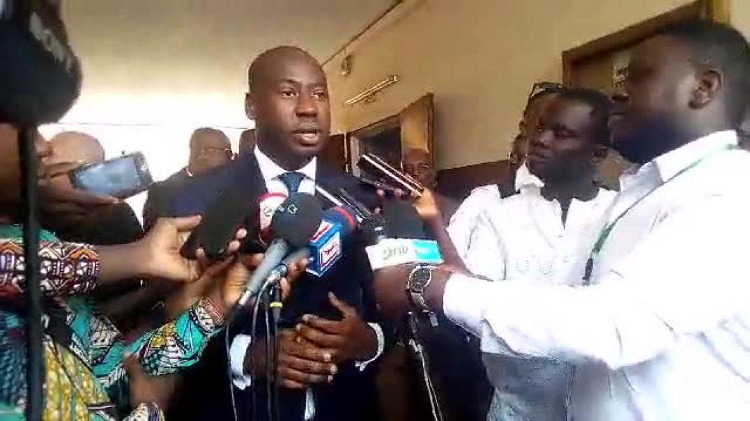 Le ministre des Sports du Bénin. Trinité Singbo