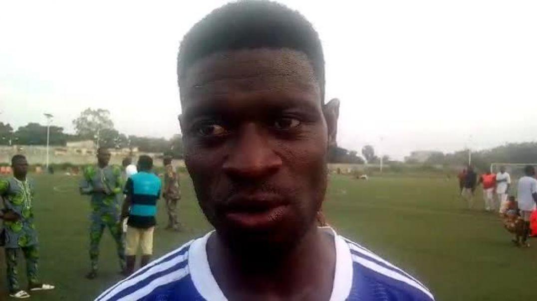 Julien Agognon après ASPAC vs Dragons FC. Trinité Singbo