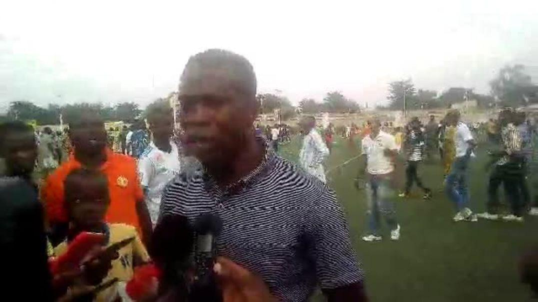 Le coach Lafiou Yessoufou après ASPAC - Dragons FC