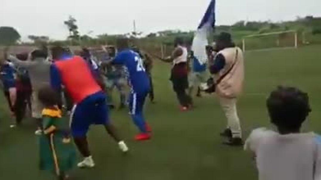 La joie des joueurs de Pwd après leur brillante victoire contre Colombe