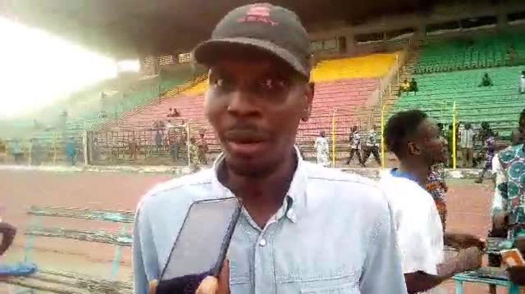Ibrahim da Silva après la défaite. Trinité Singbo