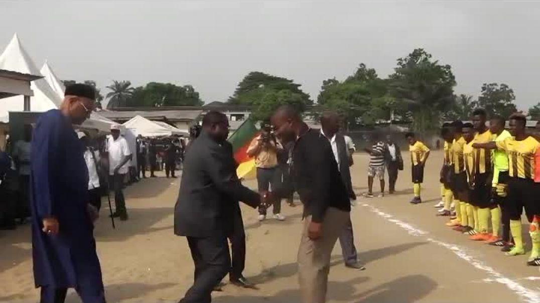 Dieudonne ivaha diboa gouverneur de la région du littoral donne le coup d envoie  par Vincent Kamto