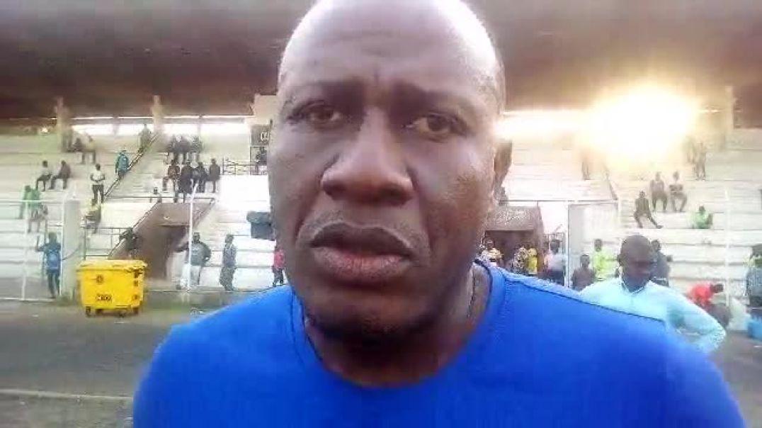 Vizir Touré après la défaite de son club. Trinité Singbo