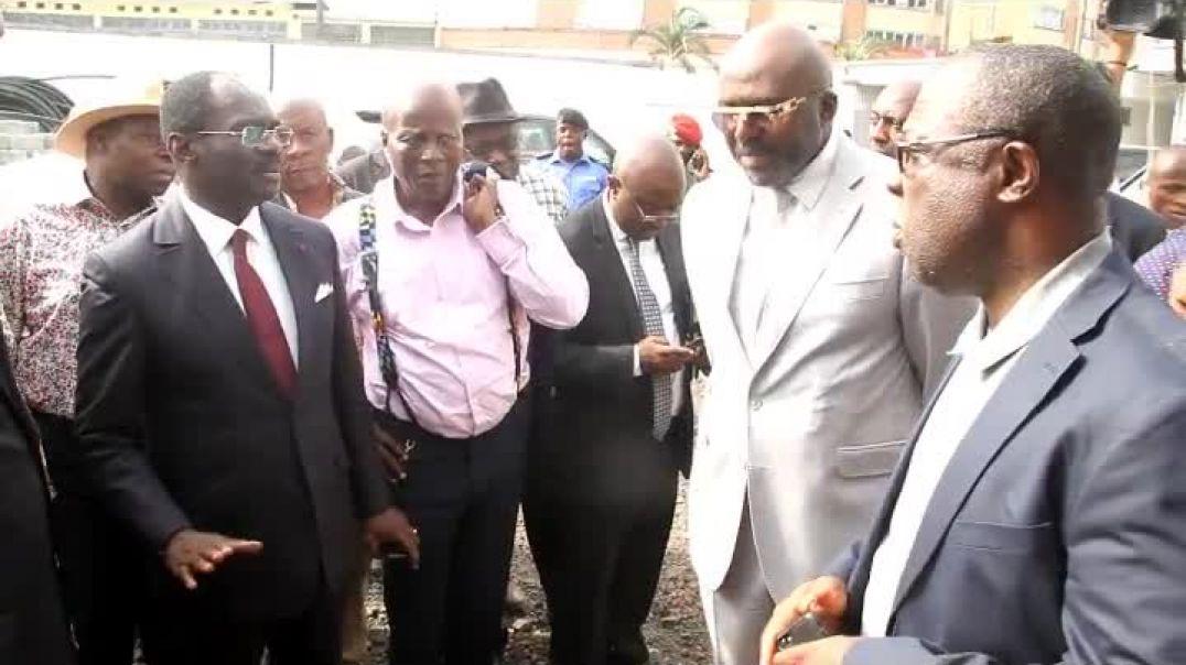 Le Ministre des sports et de l éducation physique visite le stade Mbappe leppe  par Vincent Kamto