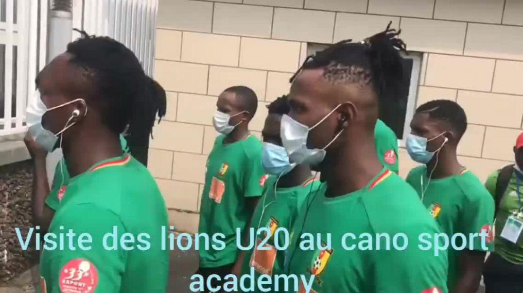 [Guinée équatoriale]  visite des lions U20 au cano sport académy