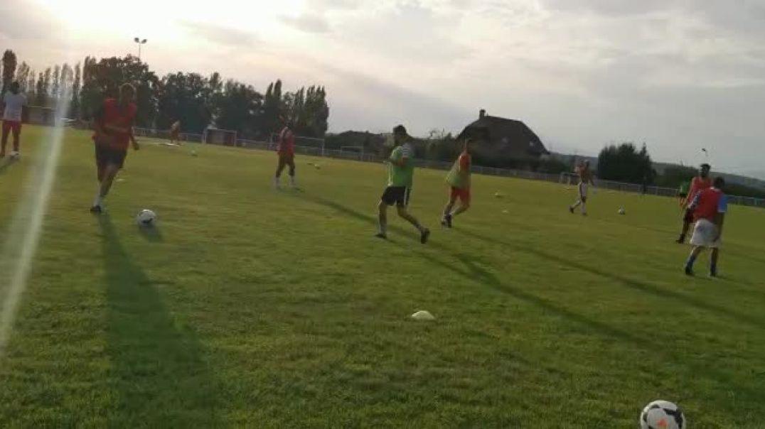séance d'entrainement du coach Cyril Kpama