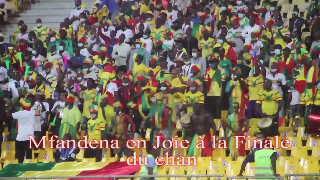 Cameroun chan2020mfandena La joie à Mfandena à la finale du chan 2020