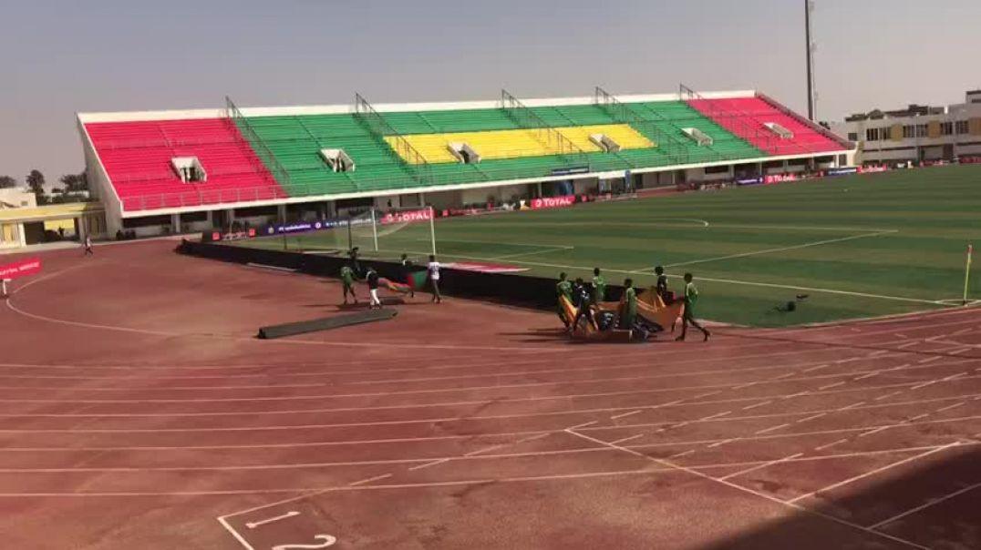 Préparatifs cérémonie d'ouverture CAN U20 Mauritanie
