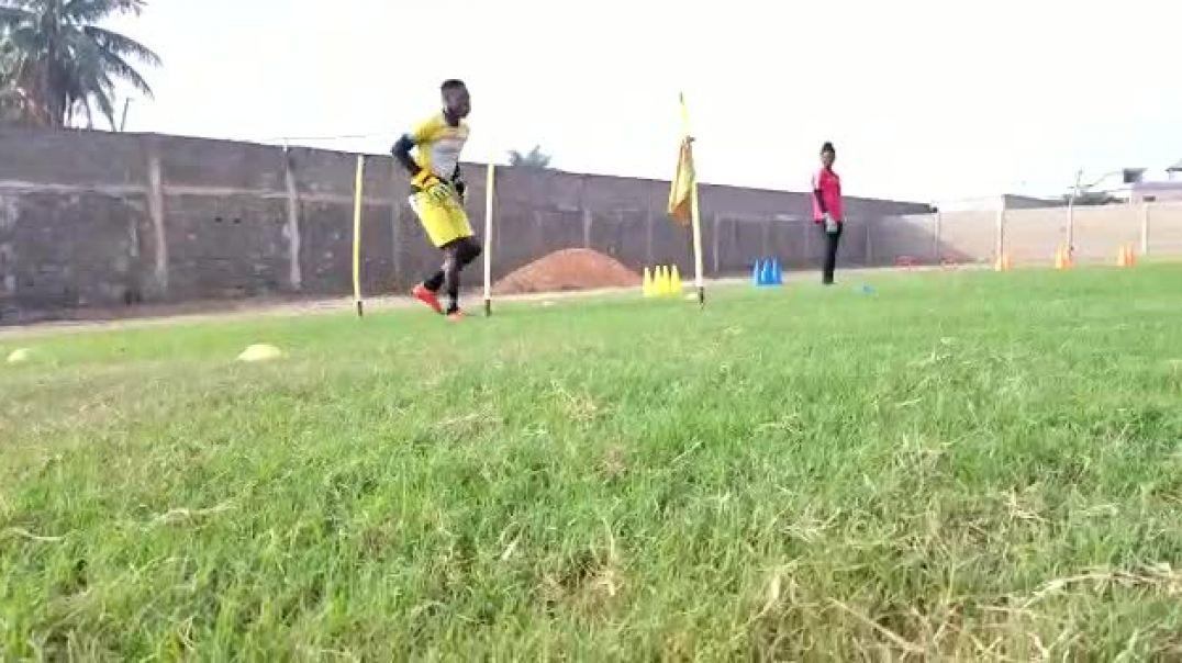 Akora Abuè,séance d'entraînement spécifique de ce vendredi à Lomé.