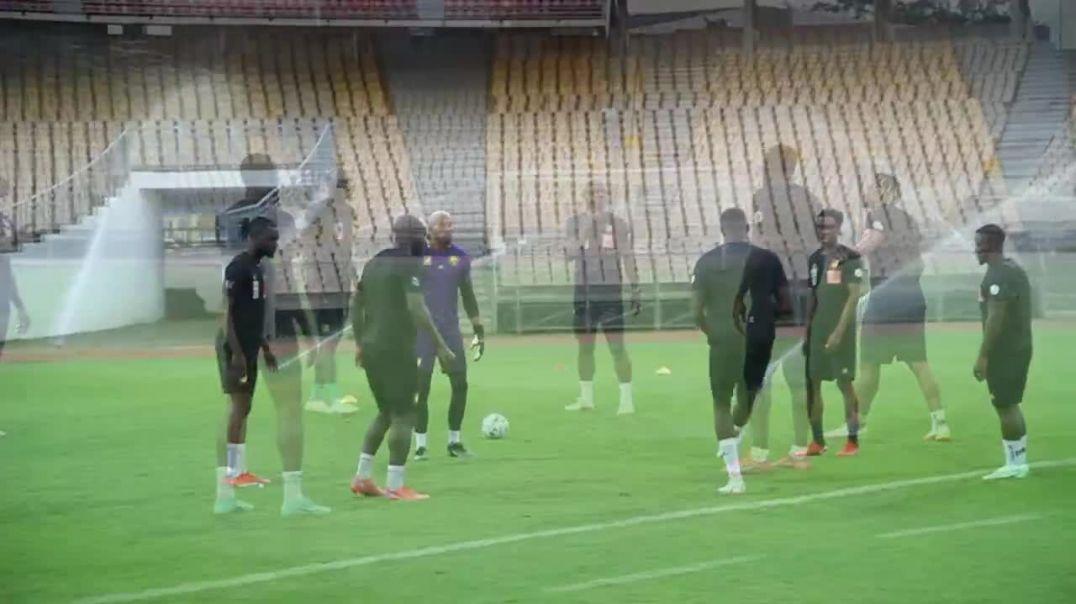Cameroun Entrainement des Lions Indomptables du 2 septembre au Stade Amadou Ahidjo