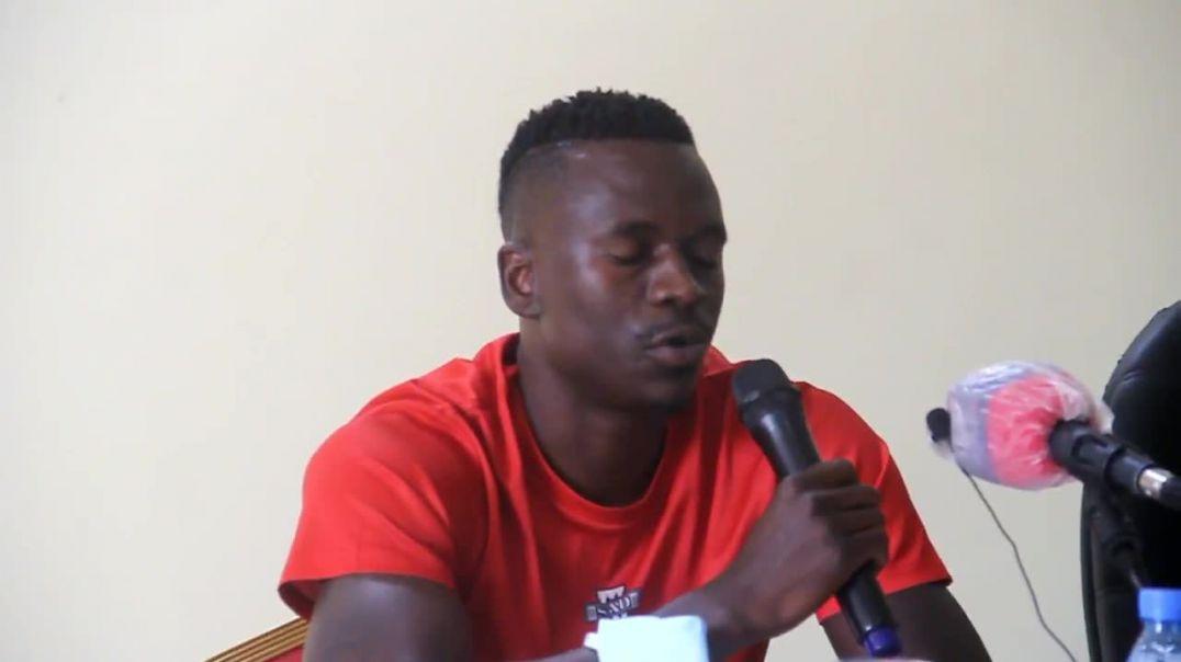 Cameroun  Limbikani Mzava capitaine du Malawi Conférence de Presse