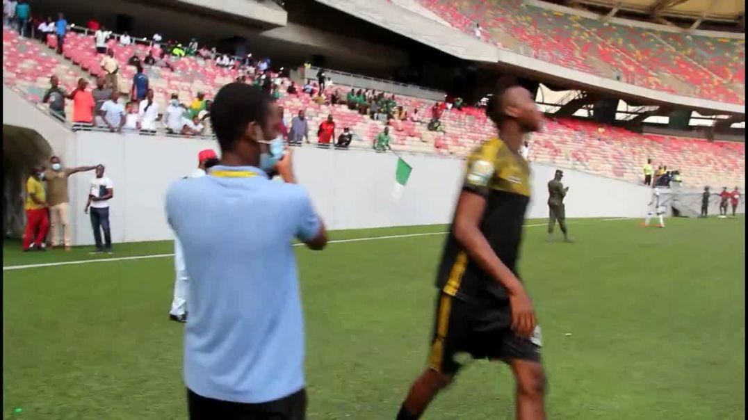 Cameroun La Joie des joueurs de coton sport de garoua après la victoire sur Apejes