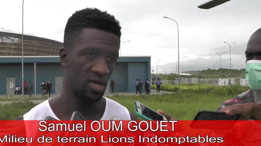 Cameroun réaction de Samuel Oum Gouet Milieu de Terrain des Lions indomptables